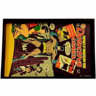 Bandeja Batman Retrô Hqs Madeira 45x29cm