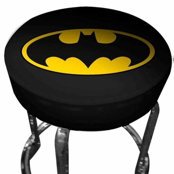 Banqueta Batman Logo Preta Em Ferro