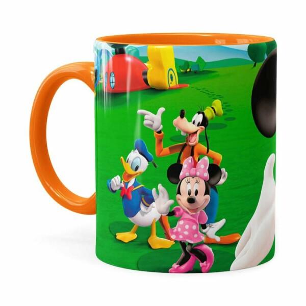 Caneca A Casa Do Mickey Mouse Laranja