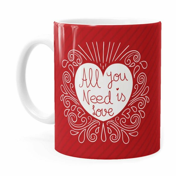 Caneca All You Need Is Love Listras Branca