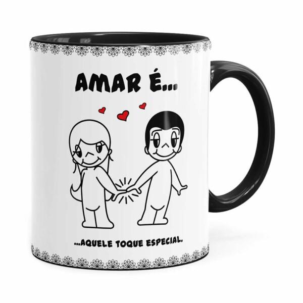 Caneca Amar é Aquele Toque Especial Preta