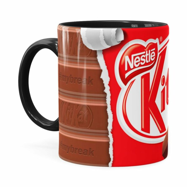 Caneca Chocolate Kitkat Preta