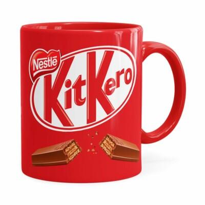 Caneca Chocolate Kitkero Vermelha