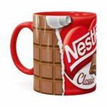 Caneca Chocolate Nestle Classic Ao Leite Vermelha