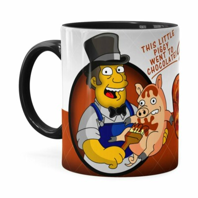 Caneca Chocolate Os Simpsons Farmer Billys Preta
