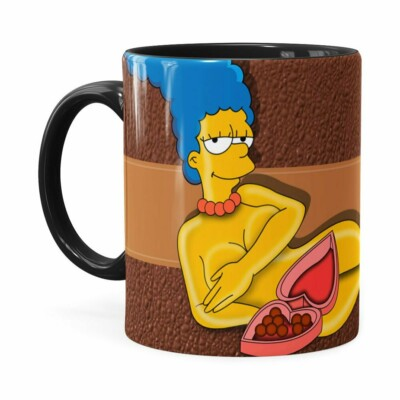 Caneca Chocolate Os Simpsons Marge Choco Lover Preta