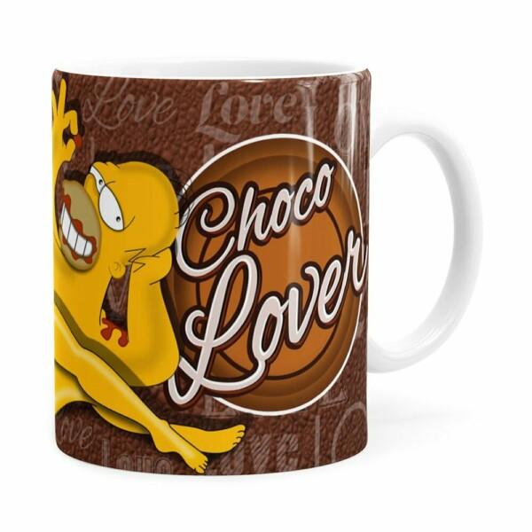 Caneca Chocolate Os Simpsons Marge E Homer Branca