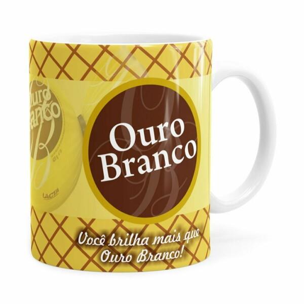 Caneca Chocolate Ouro Branco Branca
