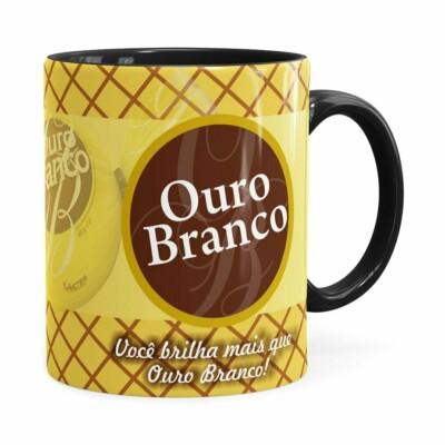 Caneca Chocolate Ouro Branco Preta