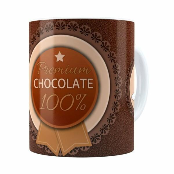 Caneca Chocolate Premium Chocolate 100% Branca