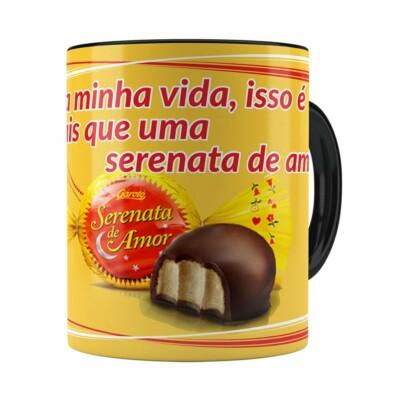 Caneca Chocolate Serenata De Amor V01 Preta