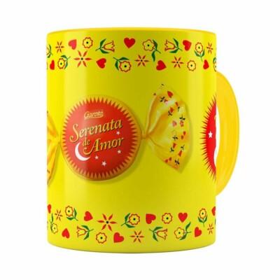 Caneca Chocolate Serenata De Amor V02 Amarela