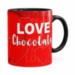 Caneca Chocolate Snoopy Love Preta