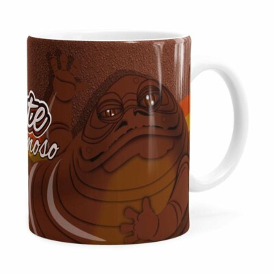 Caneca Chocolate Star Wars Jabba The Hutt Branca
