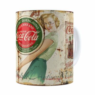 Caneca Coca-cola Retrô Drink Branca