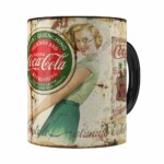 Caneca Coca-cola Retrô Drink Preta