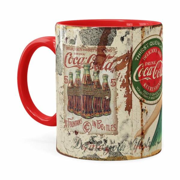 Caneca Coca-cola Retrô Drink Vermelha