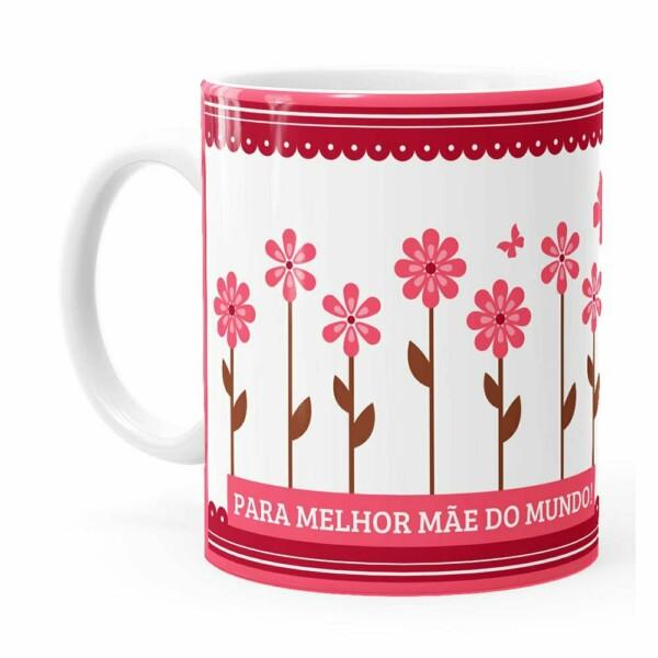 Caneca Dia Das Mães Melhor Mãe Do Mundo Branca