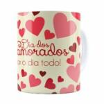 Caneca Dia Dos Namorados Amor O Dia Todo Branca