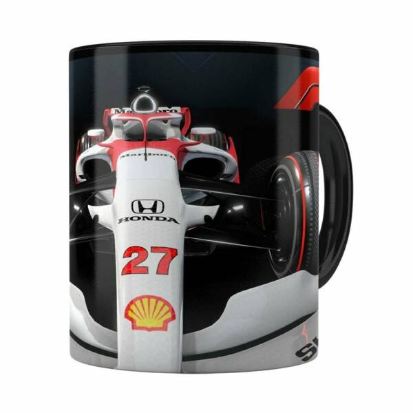 Caneca Fórmula 1 3d Print Preta