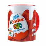 Caneca Chocolate Kinder Ovo Vermelha
