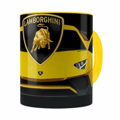 Caneca Lamborguini 3d Print Carros Amarela