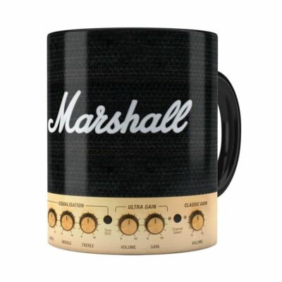 Caneca Marshall Audio Amplificador Preta