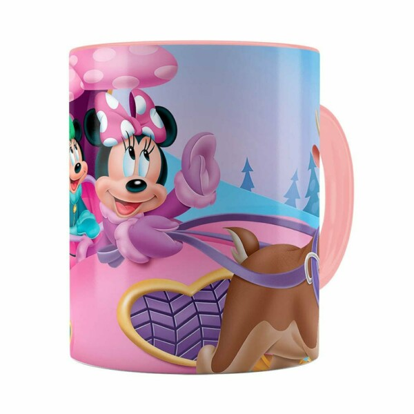 Caneca Minnie Mouse Rena Rosa