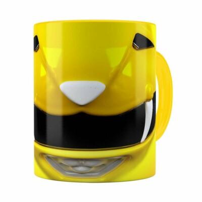 Caneca Ranger Amarelo 3d Print Power Rangers Amarela
