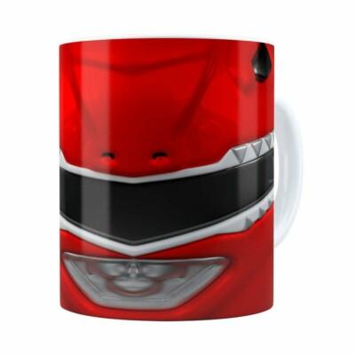 Caneca Ranger Red 3d Print Power Rangers Branca
