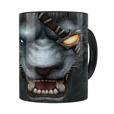 Caneca Rengar 3d Print League Of Legends Preta