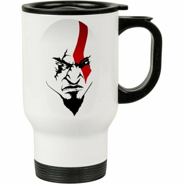 Caneca Térmica A Face De Kratos 500ml Branca
