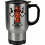 Caneca Térmica Bacon Exterminador 500ml Inox