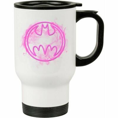 Caneca Térmica Batman Logo Neon 500ml Branca