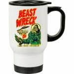 Caneca Térmica Beast Wreck Attacks 500ml Branca