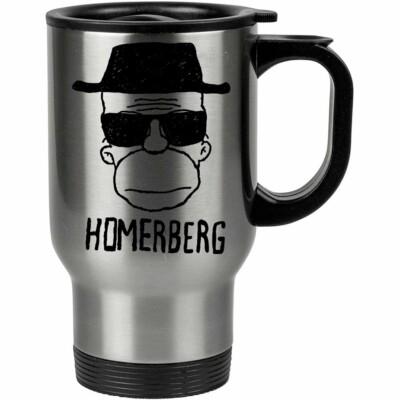 Caneca Térmica Breaking Bad Homerberg 500ml Inox
