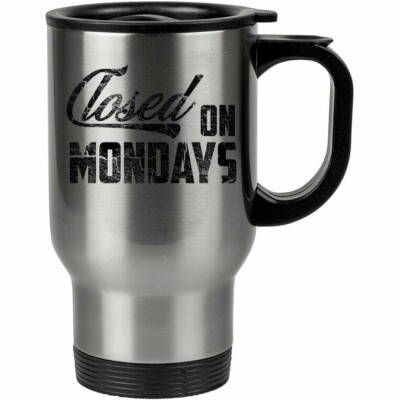Caneca Térmica Closed On Mondays 500ml Inox