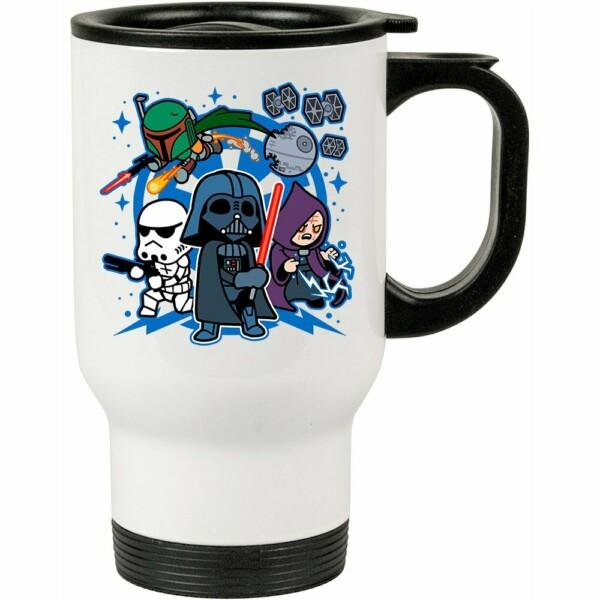 Caneca Térmica Darth Vader And Friends 500ml Branca