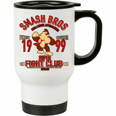 Caneca Térmica Donkey Kong Fight Club 500ml Branca