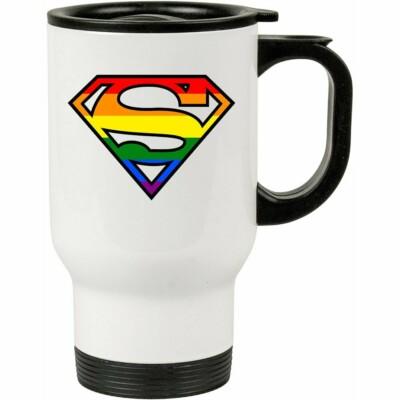 Caneca Térmica Superman Lgbt 500ml Branca