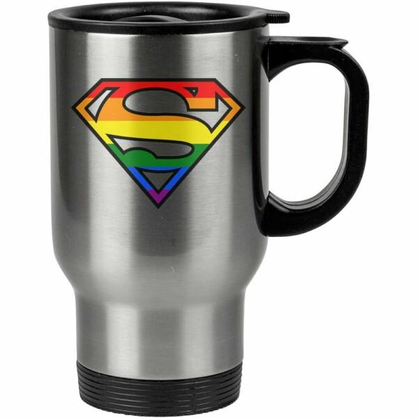 Caneca Térmica Superman Lgbt 500ml Inox