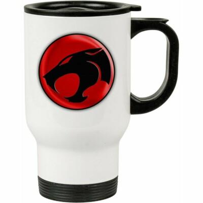 Caneca Térmica Thundercats Logo V01 500ml Branca