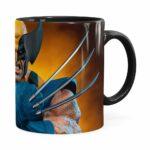 Caneca Wolverine Logan X-men 3d Print Preta