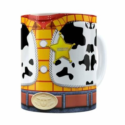 Caneca Woody 3d Print Corpinho Toy Story Branca