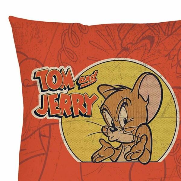 Capa De Almofada Tom And Jerry Mad Mouse 45x45cm