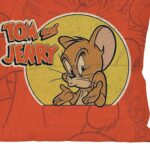 Capa De Almofada Tom And Jerry Mad Mouse 45x45cm