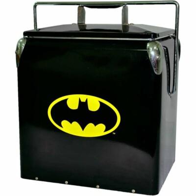 Cooler De Bebidas Batman Logo Preto