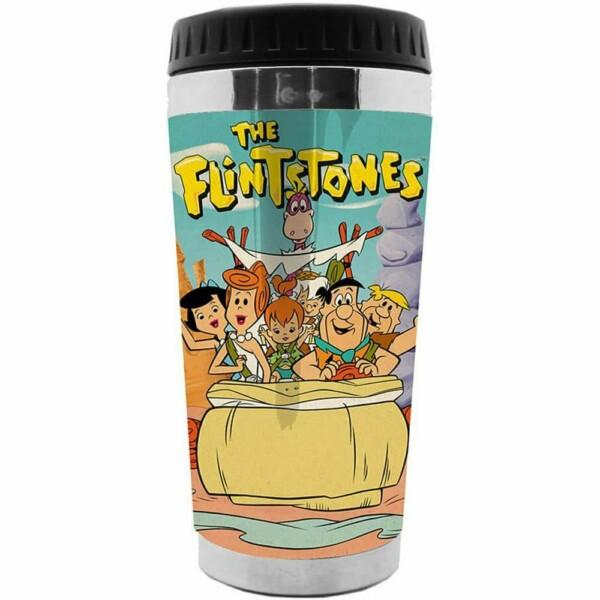 Copo Térmico Flintstones Family In Car 473ml