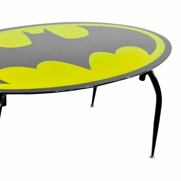 Mesa De Jantar Batman Oval Metal E Vidro