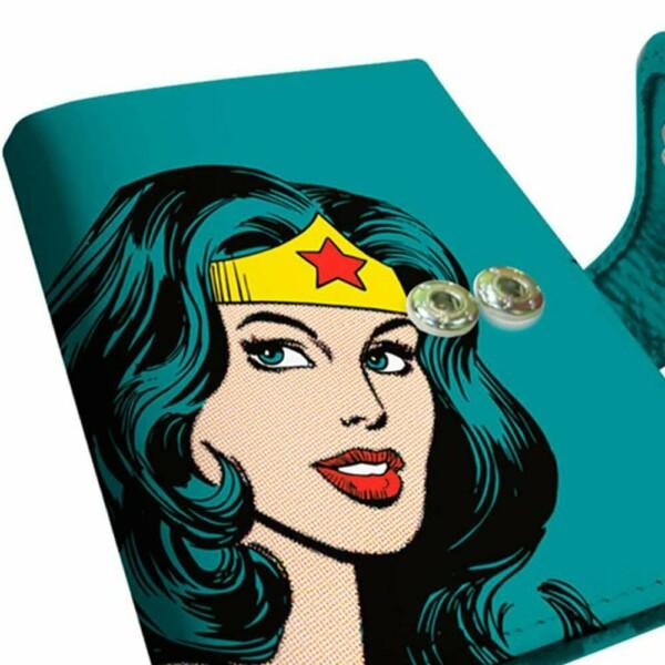 Porta Cartão Mulher Maravilha Azul